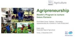 Stimulating Agri-prenuership as Solution to Youth Employment Webinar