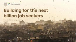 Jobs for Urban Informal Workers: Insight from Google's Kormo Jobs