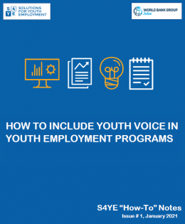 How To Include Youth Voice In Youth Employment Programs- How To Note Issue 1